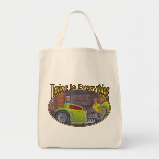 32 Ford three window coupe hot rod. Canvas Bags