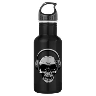 32 oz  Skull with Sunglasses & Headphones 532 Ml Water Bottle