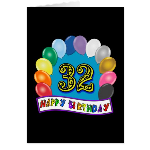 32nd Birthday Balloons Gifts