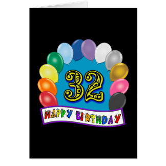 32nd Birthday Balloons Gifts Cards