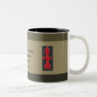 32nd Infantry Red Arrow Brigade Custom Military Two-Tone Coffee Mug