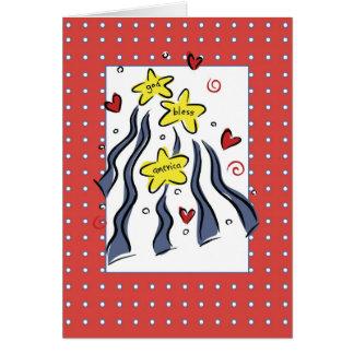 3307 God Bless America Card