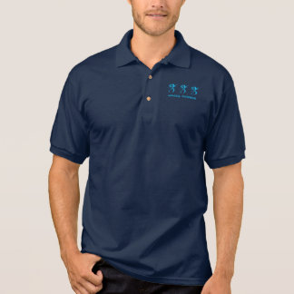 333 (ANGEL NUMBER) Synchronicity, Blue - Polo Shirt