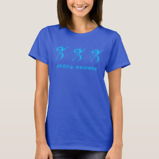 333 (ANGEL NUMBER) Synchronicity, Blue - T-Shirt