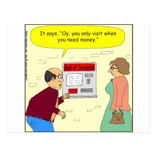 333 Bank of Jerusalem Cartoon Postcard