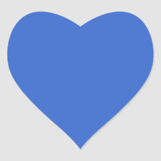 3366CC Solid Blue Background Color Template Heart Sticker
