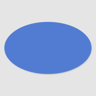 3366CC Solid Blue Background Color Template Oval Sticker