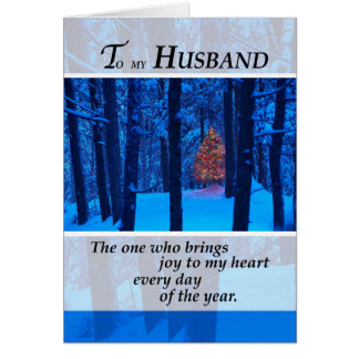 3399 Husband Christmas Tree in Woods Card