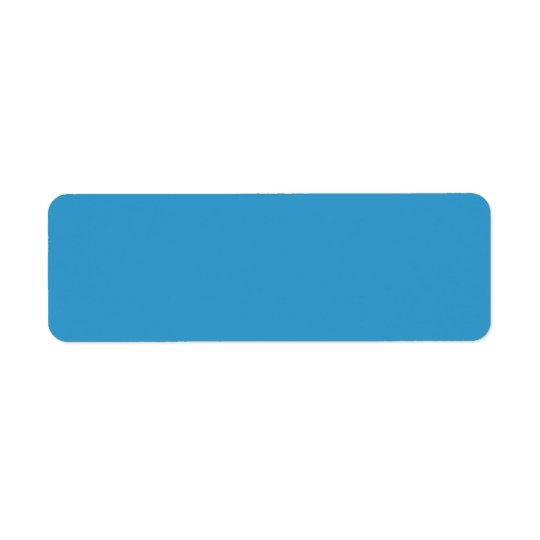3399CC Blue Solid Colour Background Template Return Address Label