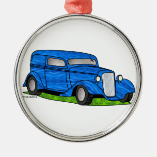 33 Chevy Sedan Delivery Metal Ornament