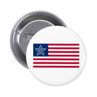 33 Star Great Star Oregon State American Flag Button