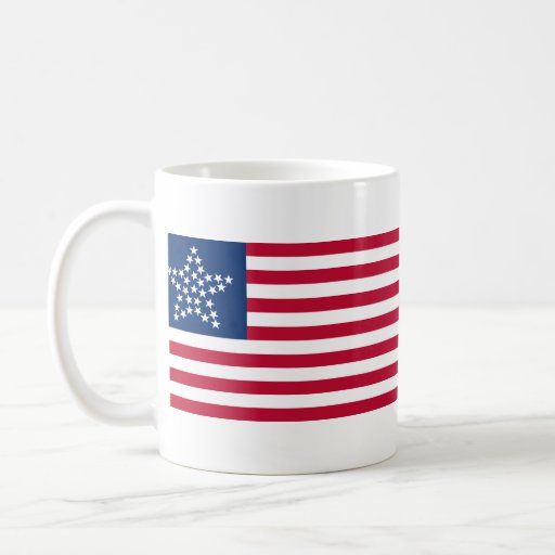33 Star Great Star Oregon State American Flag Coffee Mugs