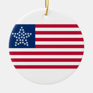 33 Star Great Star Oregon State American Flag Round Ceramic Decoration