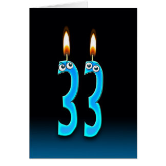 33rd Birthday Candles Card