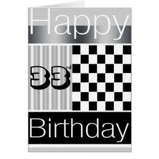33rd Birthday Card