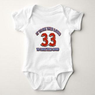 33rd birthday design baby bodysuit