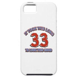 33rd birthday design tough iPhone 5 case