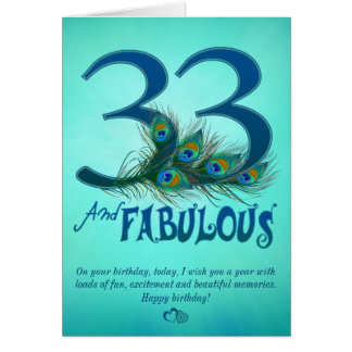 33rd Birthday template Cards