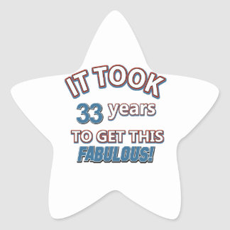 33rd year birthday designs stickers