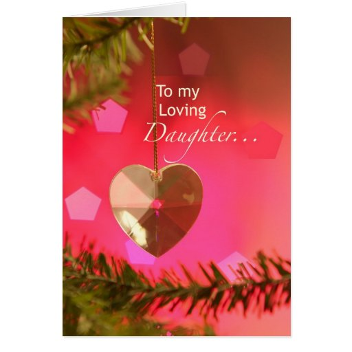 3401 Daughter Heart on Tree Christmas Card