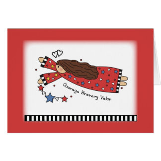 3438 Angel of Courage Greeting Card
