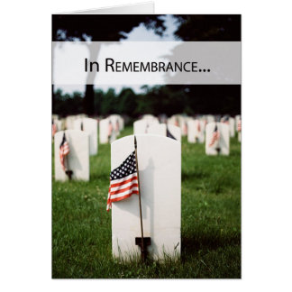 3446 Patriotic In Remembrance Greeting Cards