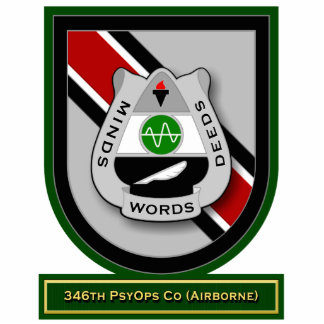 346th Psychological Operations Co - Airborne flash Standing Photo Sculpture