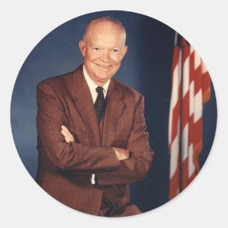 34 Dwight David Eisenhower Classic Round Sticker