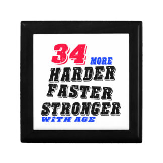 34 More Harder Faster Stronger With Age Gift Box