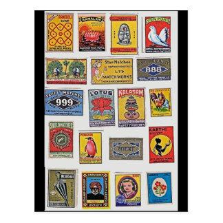 34 Safety Matches Vintage Postcard