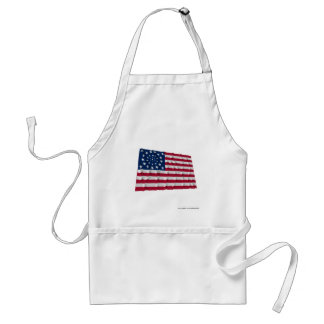 34-star flag, Wreath pattern, outliers Apron
