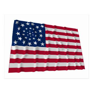 34-star flag, Wreath pattern, outliers Post Cards