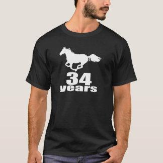 34 Years Birthday Designs T-Shirt