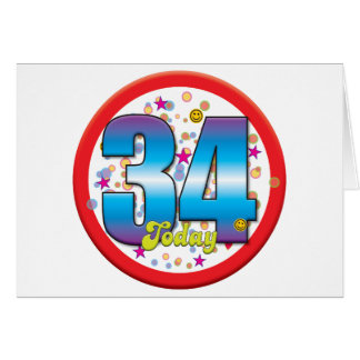 34th Birthday Today v2 Card