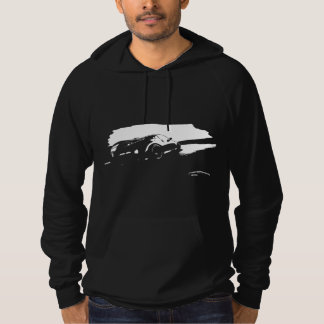 "350Z ""drift"" White Silhouette Hoodie"