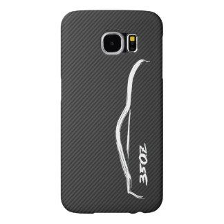 350Z White Silhouette Logo Samsung Galaxy S6 Cases
