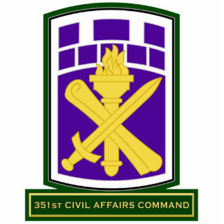 351st Civil Affairs Command SSI Acrylic Cut Out