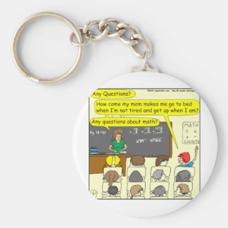 353 Any questions about math color cartoon Basic Round Button Key Ring