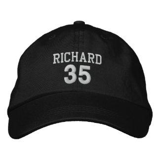 35 Birthday Custom Name WHITE Embroidery V03I Embroidered Hat
