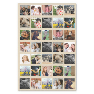 35 Photo Collage Tissue Paper