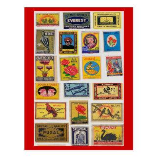 #35 Safety Matches Vintage Postcard