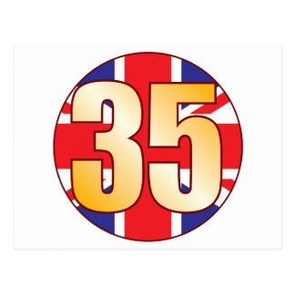 35 UK Gold Postcard