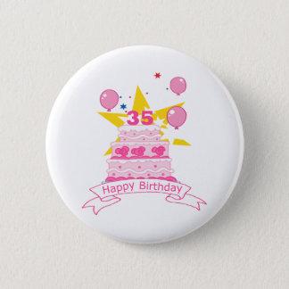 35 Year Old Birthday Cake 6 Cm Round Badge