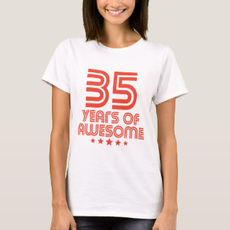 35 Years Of Awesome 35th Birthday T-Shirt