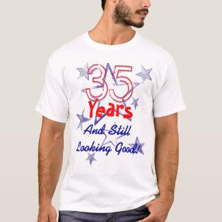 35 Years Still Looking Good USA Stars Birthday T-Shirt