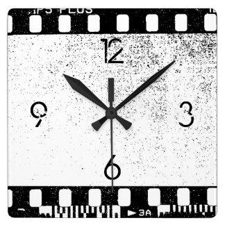 35mm Film Square Wall Clock