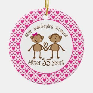 35th Anniversary Monkey Love Ornament