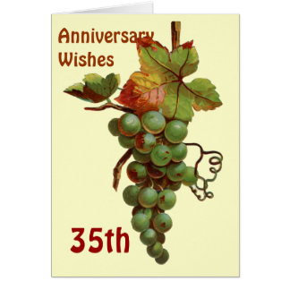 35th Anniversary wishes, customiseable Greeting Card
