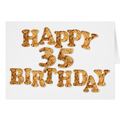 35th Birthday card for a cookie lover