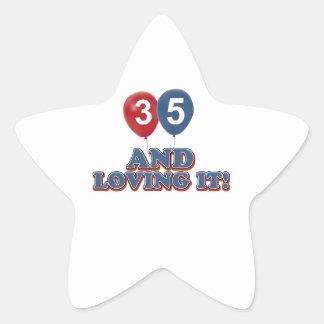 35th birthday designs sticker